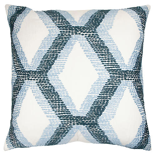 Kandice 22x22 Pillow, Blue