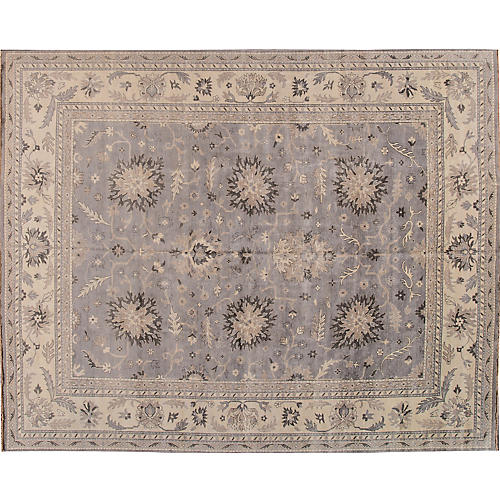 12'x15' Ayoub Hand-Knotted Rug, Lavender