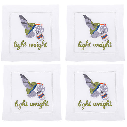 S/4 Lightweight Cocktail Napkins