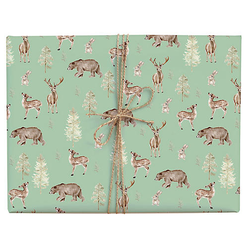 S/3 Forest & Fauna Gift Wrap Set