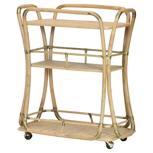 Edith Bar Cart, Natural