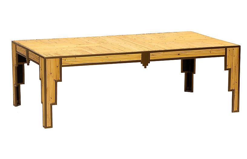 Empire Coffee Table, Tan/Bronze