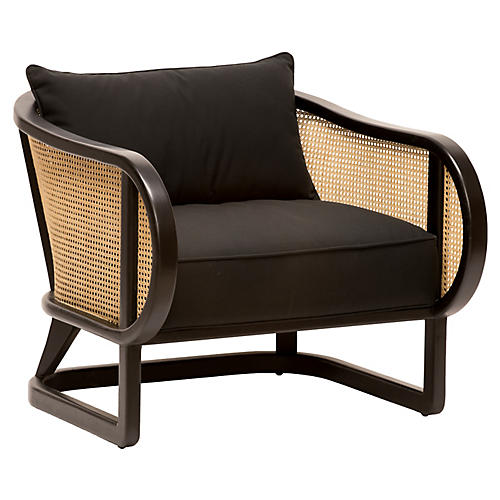 Stockholm Lounge Chair, Black