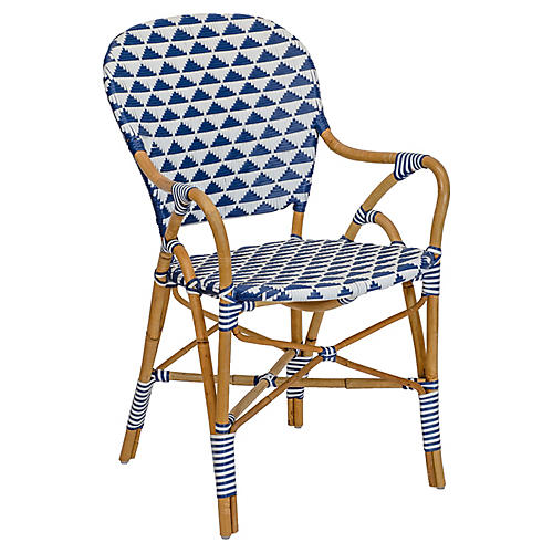 Pinnacles Armchair, White/Navy