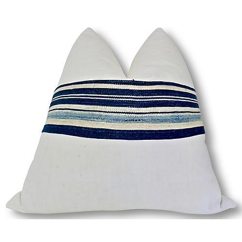 Katie 24x24 Pillow, Natural/White/Black
