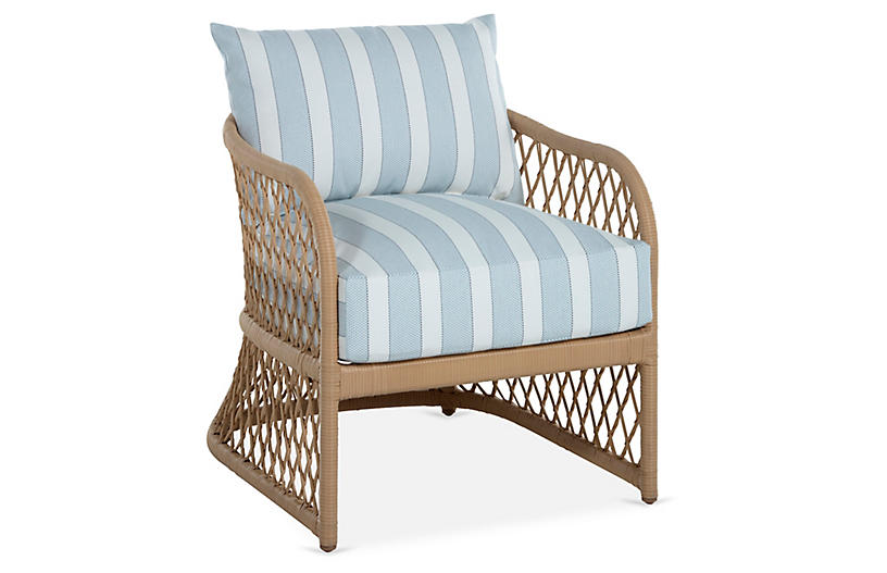 Carmel Lounge Chair, Sky Blue