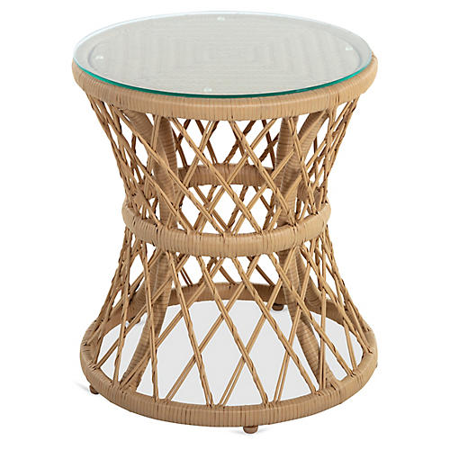 Carmel Side Table, Light Tan