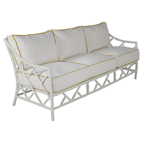 Kit Sofa, White/Yellow