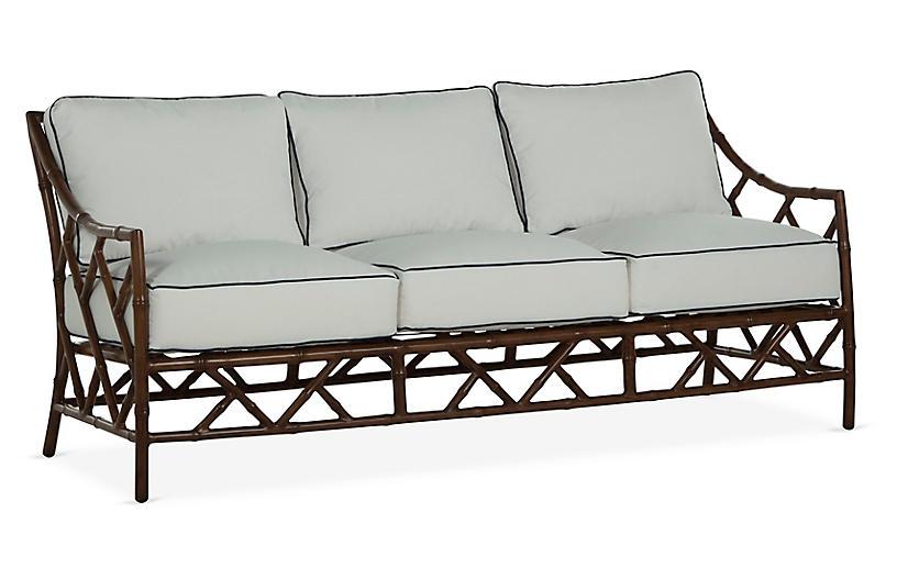 Kit Sofa, Sandalwood/White