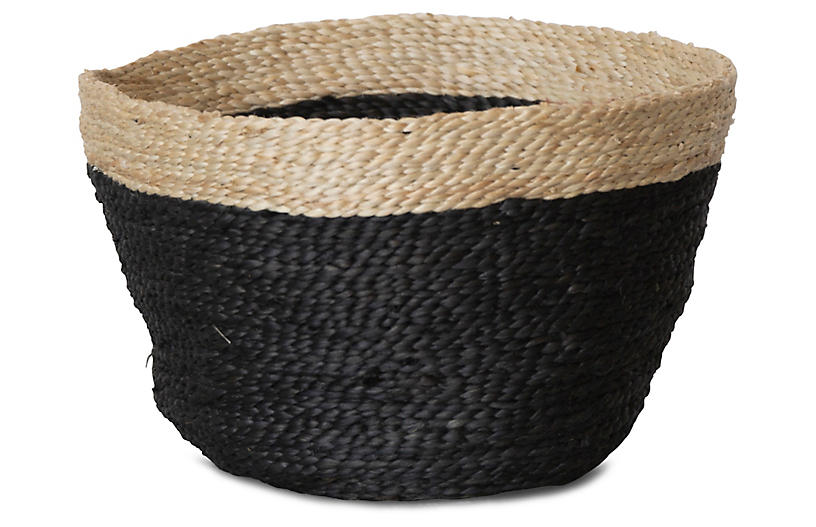 Jute Bowl, Charcoal/Natural