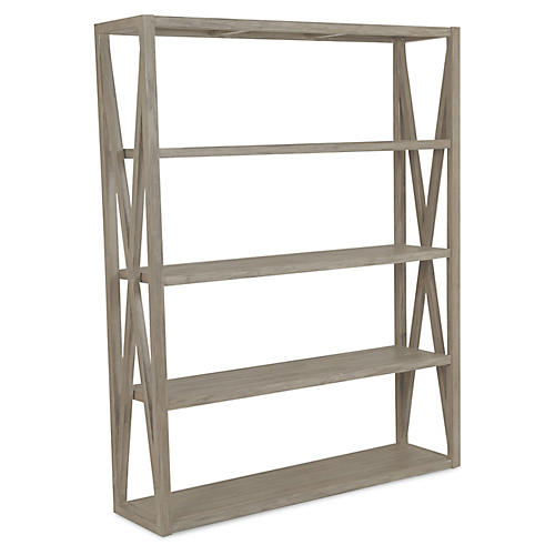 Coastal Teak Bookcase, Tan