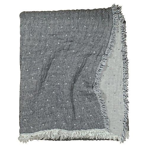 Cozi Throw, Charcoal/Heather Gray