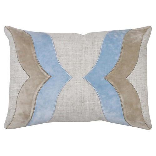 Chris 14x20 Lumbar Pillow, Winter Sky Velvet
