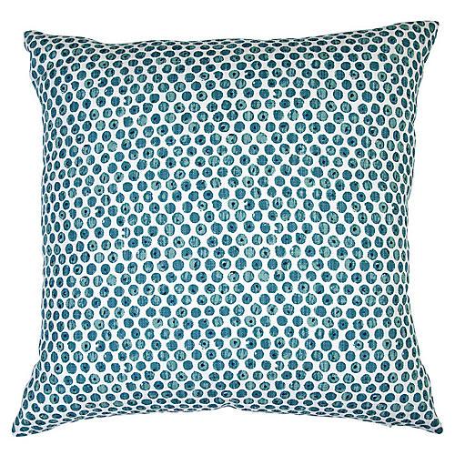 Dot 20x20 Throw Pillow, Blue/White