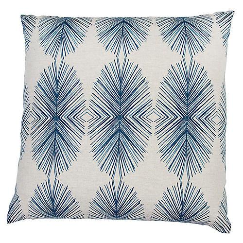 Tulum 20x20 Throw Pillow, Blue/White