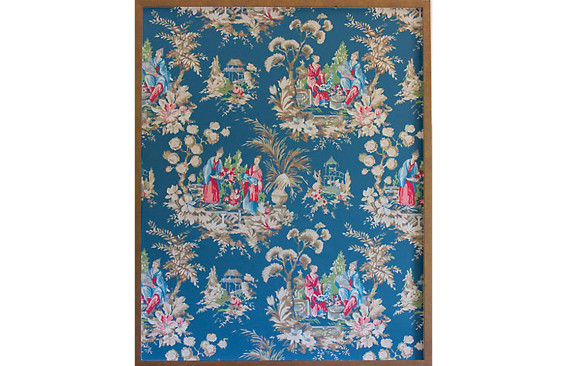 Dawn Wolfe, Teal Chinoiserie Wallpaper