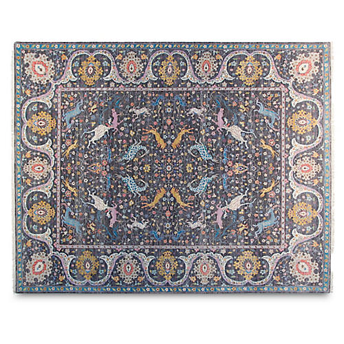 8'x10' Zak Hand-Knotted Rug, Charcoal