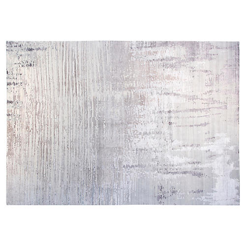 10'x14' Walid Hand-Knotted Rug, Charcoal