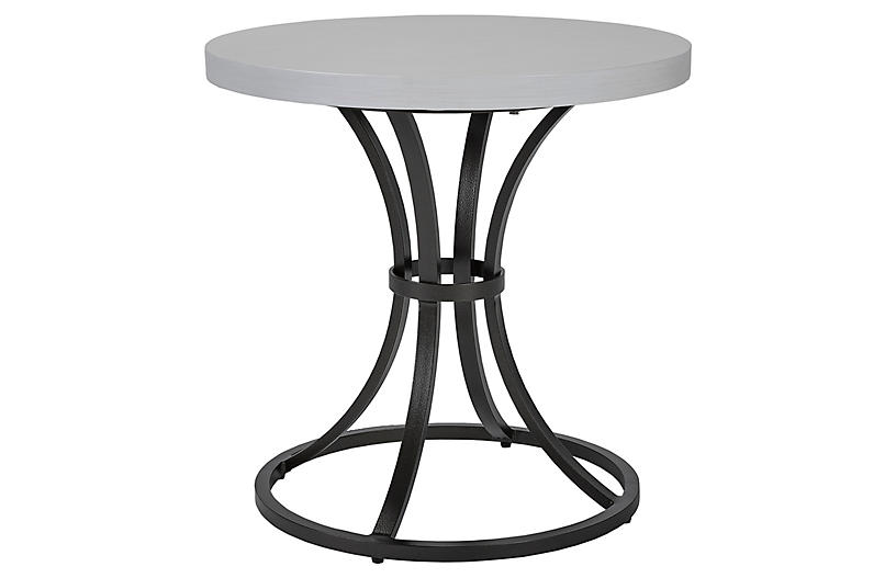Calistoga Outdoor Large Side Table, Dark Bronze