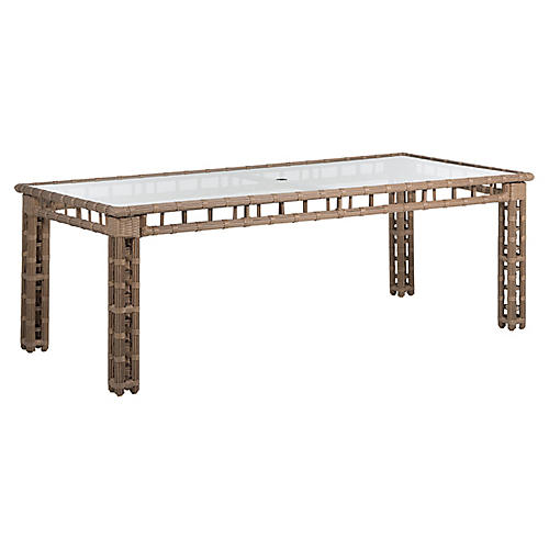 Newport Outdoor Dining table, Burlap