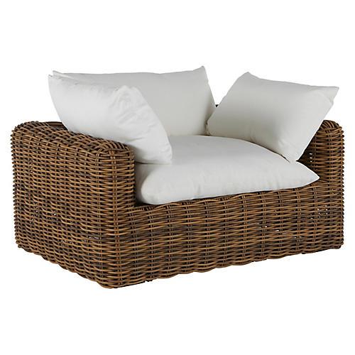 Montecito Outdoor Lounge Chair, Raffia