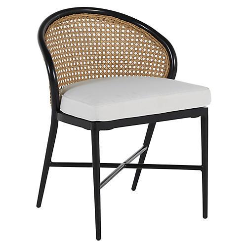 Havana Outdoor Side Chair, Black