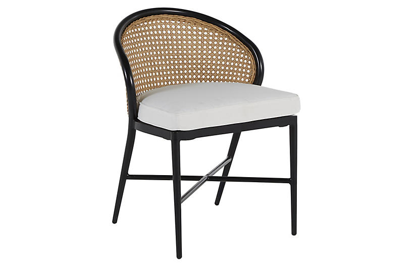 Havana Outdoor Side Chair, Black