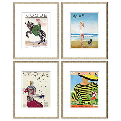 Vogue Magazine Covers, Set of 4