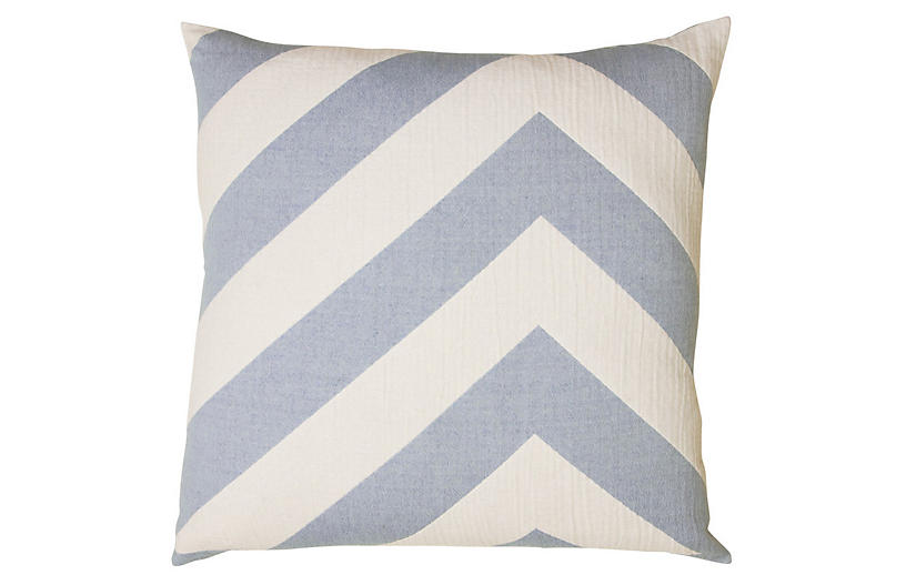 Lagom pillow Cotton Pillow, Chambray