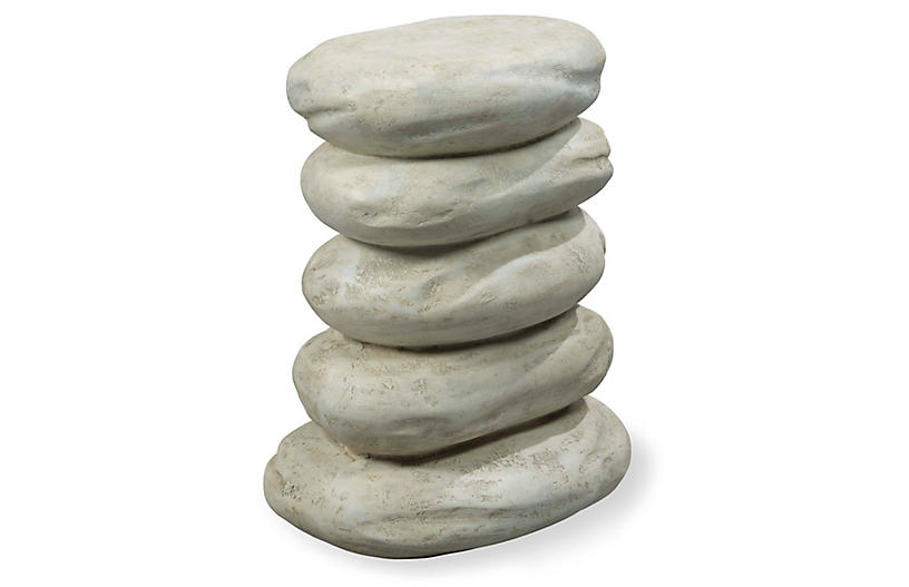 Cairn Side Table, River Rock