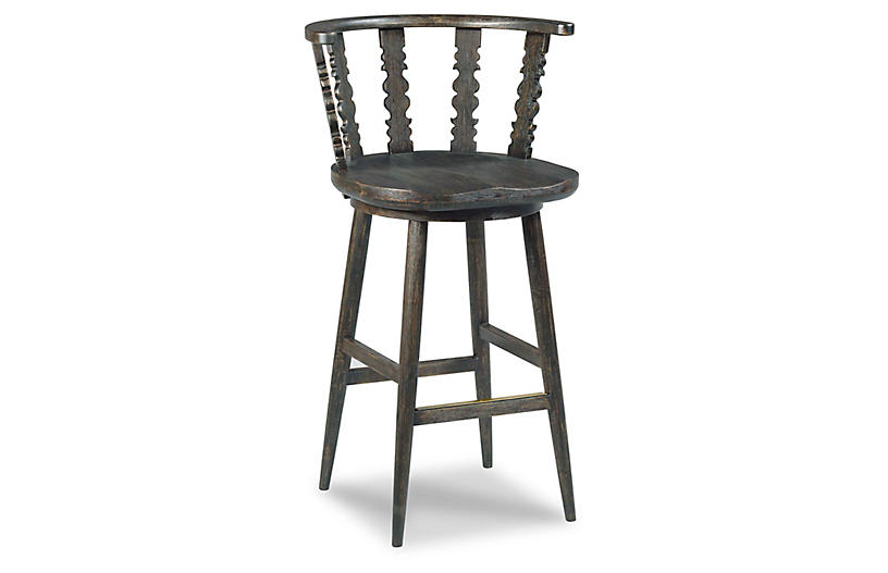Fable Counter Stool, Worn Black