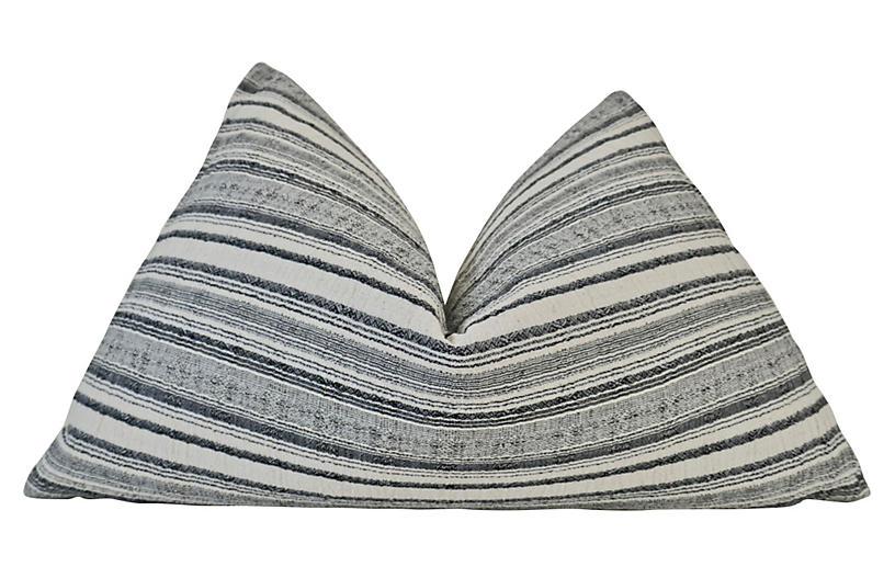 Salerno 25x16 Lumbar Pillow, Natural/Black