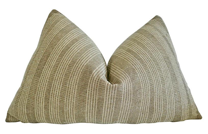 Algiers 25x16 Lumbar Pillow, Camel/White