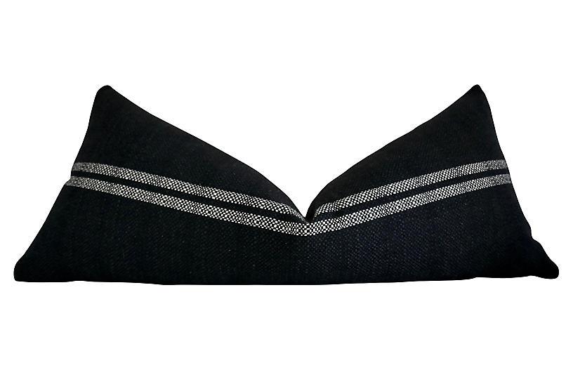 Cyprus 38x16 Body Pillow, Natural/Black