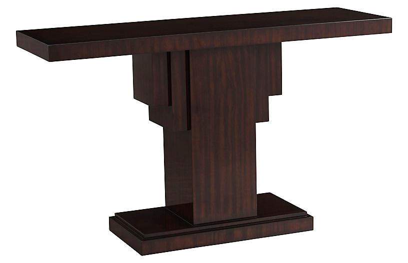 Penthouse Suite Pedestal Console, Tri Color Paldao