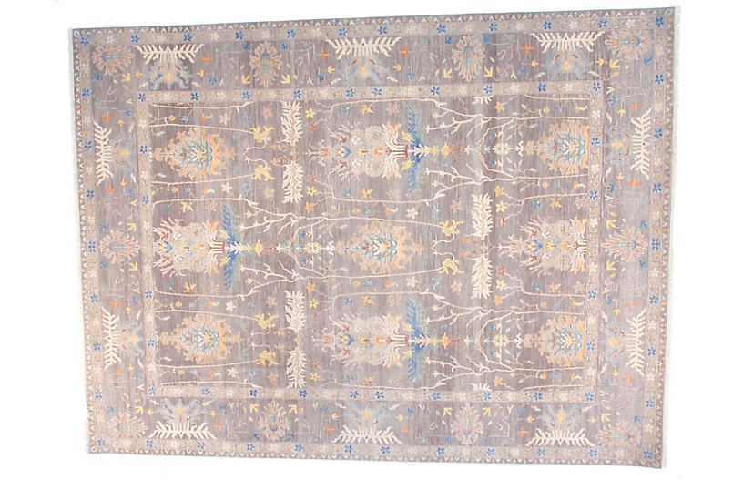 9'x12' Sari Oushak Jen Rug, Gray