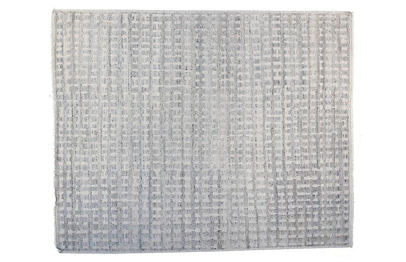12'x15' Brooklyn Rug, Ivory/Light Blue