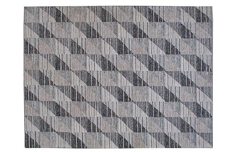 Skye Flat-Weave Rug, Gray