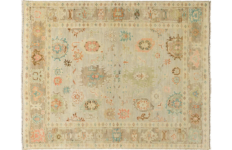 Brisa Hand-Knotted Rug, Grey