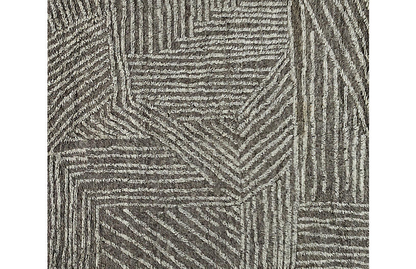Anders Hand-Knotted Rug, Maze