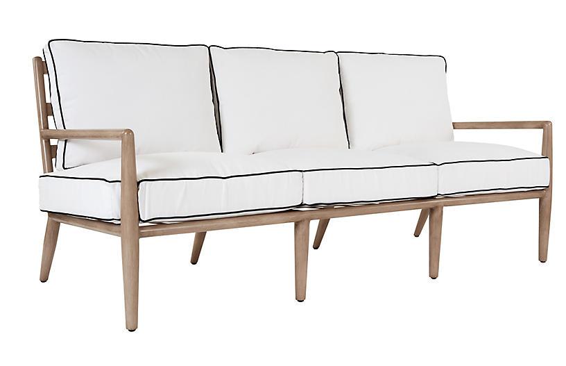 Siena Sofa, White/Black Welt