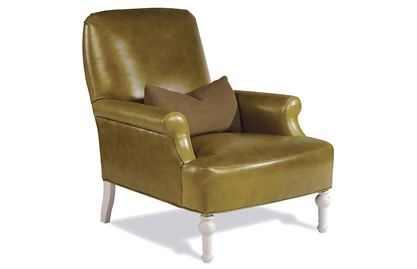 Thinking Leather Chair, Green