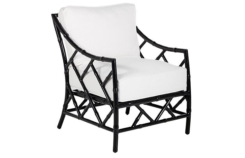 Kit Lounge Chair, Black/White