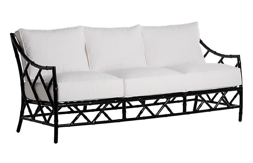 Kit Sofa, Black/White