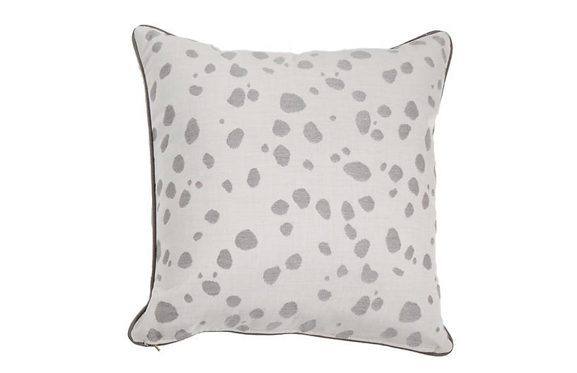 Siena Outdoor Pillow, Pewter Spot