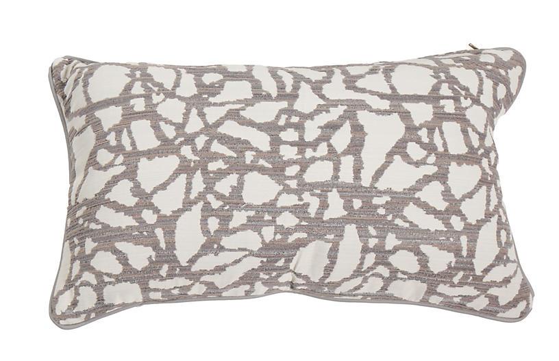 Siena 14x24 Lumbar Outdoor Pillow, Mod Pewter
