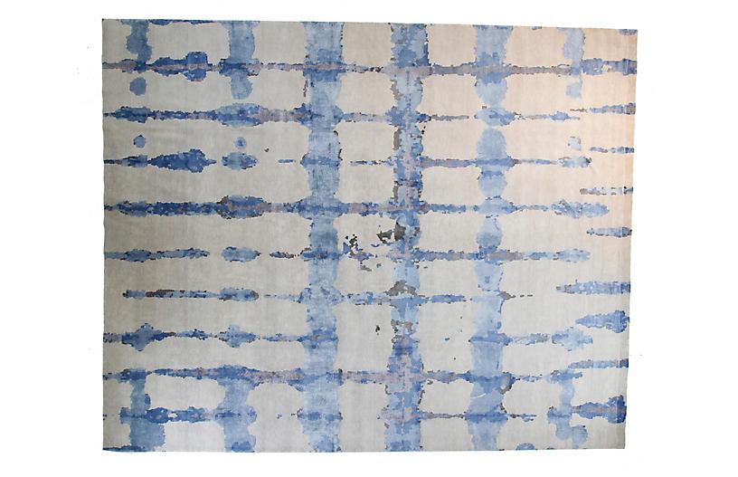 12'x15' Ocean Rug, Light Gray/Blue