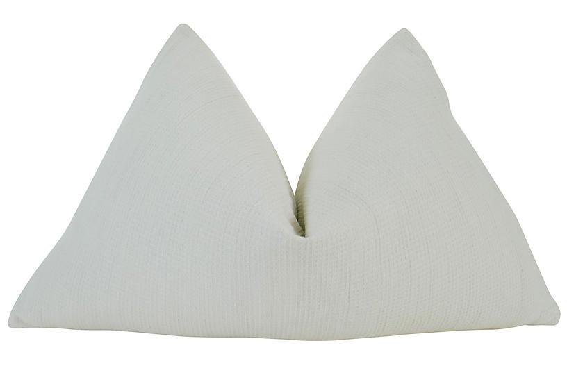 Lima 25x16 Pillow, Ecru/White