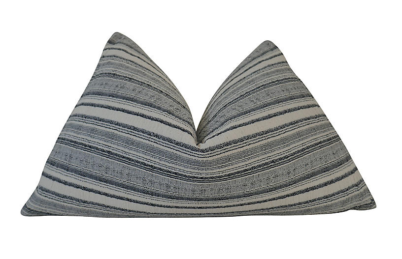Sonora 25x16 Pillow, Charcoal/White