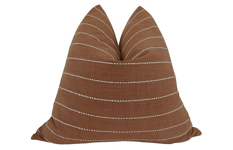 Coronado 24x24 Pillow, Clay/White